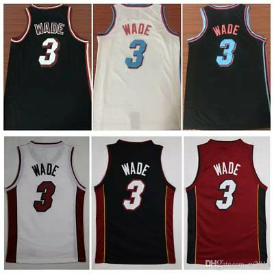 reputable site 46e20 a627d *NEW MIAMI HEAT jersey SALE Vice city Dwyane Wade Dragic Whiteside Home Away