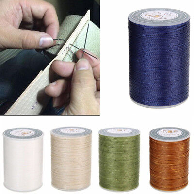 Waxed Thread 0.8mm 90m Polyester Cord Sewing Stitching Leather Craft Bracelet L7
