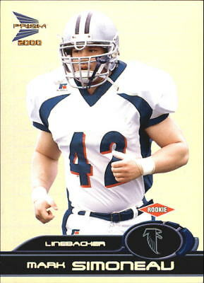 2000 Pacific Prism Prospects Football Card #107 Simoneau Rookie