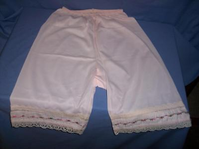 """""""UNBRANDED""""  NWOT VTG PINK/LACE/EMBROIDERY - NYLON  -SISSY  PETTI-PANTS  sz: 5/S"""