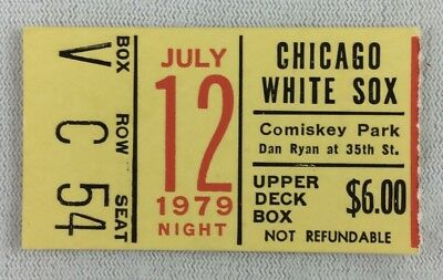 MLB 1979 07/12 Detroit Tigers at Chicago White Sox Ticket Stub-Disco Demolition
