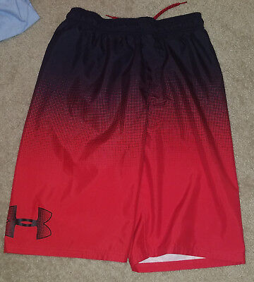 Under Armour Boys Swim Trunks YXL Youth XL Red Black