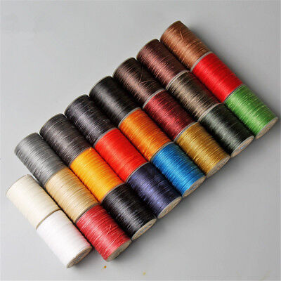 0.8mm 90M Waxed Thread Polyester Cord Hand Sewing Stitching Leather DIY Crafts