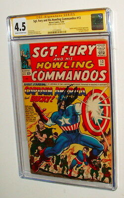 1964 Sg Fury &  His Howling Commandos #13  Signed By Stan Lee Cgc 4.5