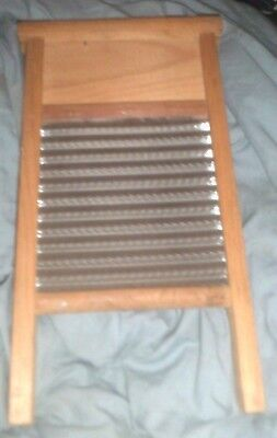 Vintage Double Sided Wooden Washboard