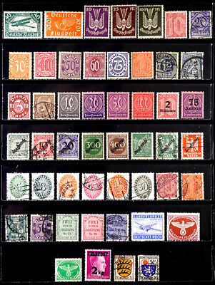 Germany: Classic Era To 40's Airmail, Official, Etc. Stamp Collection