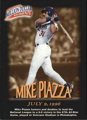 1997 Fleer Million Dollar Moments #14 of 50 Mike Piazza DODGERS R30204 - NM-MT