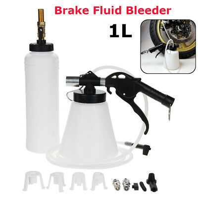 Pneumatic 1L Brake Fluid Bleeder Set Car Van Air Extractor Clutch Oil Bleeding