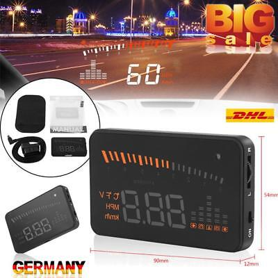"3"" Auto HUD LCD Head Up Display OBD II Geschwindigkeit Alarm System UP HOT DE"