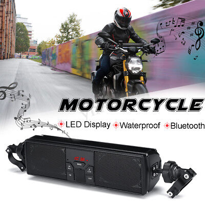 TY-1020 Moto Bluetooth Altavoz FM Audio LED Monitor Impermeable Manillar Montar