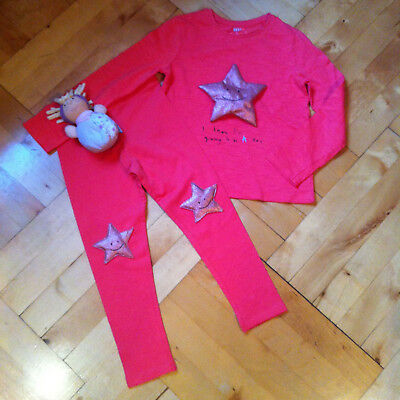 *BE A STAR*Next*SET*Shirt*Leggings*Sterne*Größe 116*For the next girls*