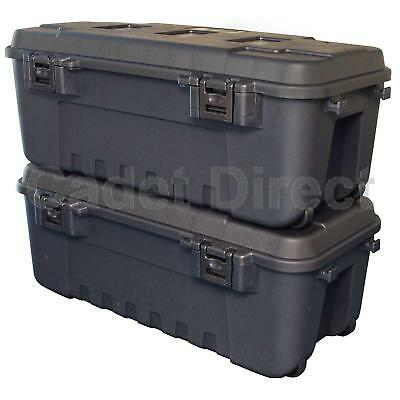 New Heavy Duty Plano Military Storage Trunk, Pack of 2, Black