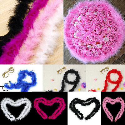 Multi-Color Feather Boa Strip Fluffy Craft Costume Dressup Wedding Party DIY