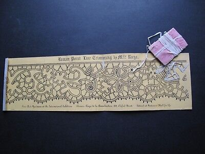 ORIGINAL VICTORIAN POINT LACE PATTERN by Mlle RIEGO c. 1862