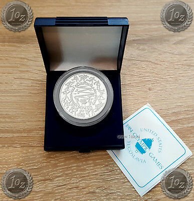 TURKEY 5000 LIRA 1984 ( LOS ANGELES - SUMMER OLYMPIC GAMES ) SILVER coin * PROOF