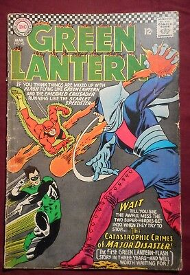 Green Lantern #43 (DC, 1965) Silver Age GL/Flash Team-up in low grade