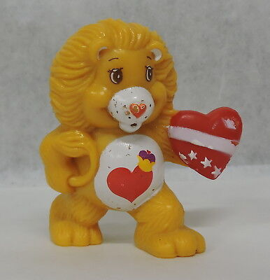 "Vtg 1984 Agc Care Bears Cousin 2"" Pvc Brave Heart Lion Figure"