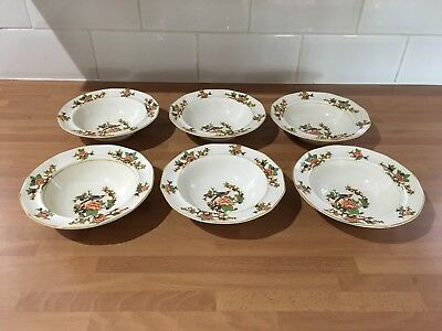 vintage dessert / fruit bowls x six made by myott son & co