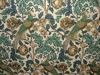 Oakmere Verdigris Cotton Curtain Upholstery Quilting Fabric William Morris Style