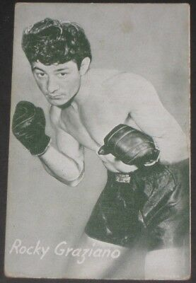 Vintage Exhibits ROCKY GRAZIANO Boxing Card The Ring