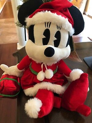 Disney Good Tidings Minnie Holding Present Jumbo Plush Christmas 2018 - 18 Inch