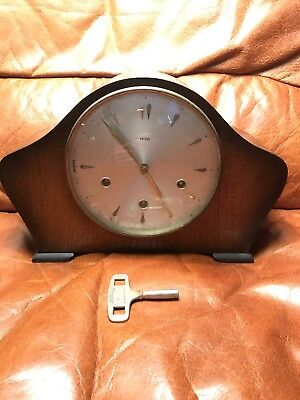 STUNNING SMITHS RARE WESTMINSTER CHIMING MANTEL CLOCK FULLY Working