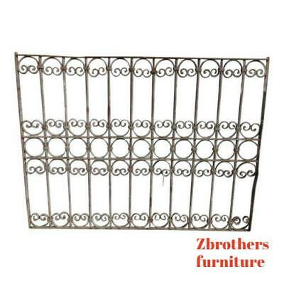 Antique Victorian Iron Gate Window Garden Fence Architectural Salvage Door #367