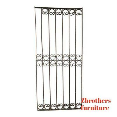 Antique Victorian Iron Gate Window Garden Fence Architectural Salvage Door #343