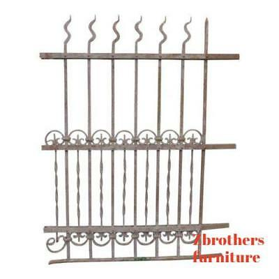 Antique Victorian Iron Gate Window Garden Fence Architectural Salvage Door #310