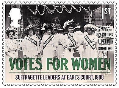 'Votes For Women - Suffragette Leaders at Earls Court 1908' on 2018 stamp