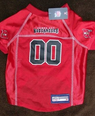 6399a835 TAMPA BAY BUCCANEERS Dog Jersey-(M) NFL Officially Licensed Football Pet  Product