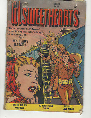 G.I. sweethearts #38 march 1954 quality comics precode