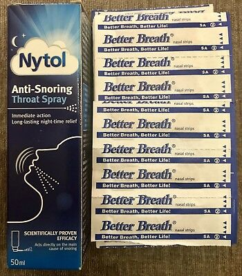 Nytol, Anti-snoring Throat Spary, With Around 117 Better Breath Nasal Strips.