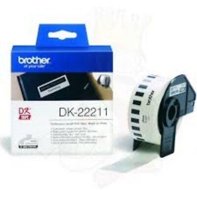 NEW BROTHER DK-22211, WHITE CONTINUOUS FILM ROLL 29MM X 15.24M....a.