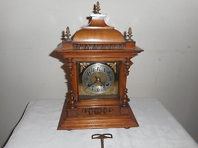 Antique, Badische Bracket Clock in Excellent Condition & Working Order, With Key