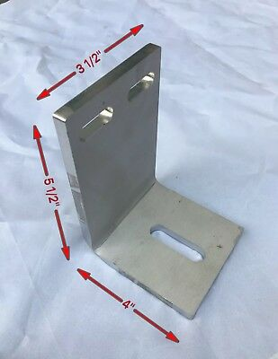 Heavy Duty Stainless Steel Bracket Support With Slotted Mounting Holes