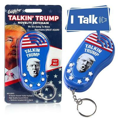 Talking Trump Keychain Funny Gag Sound Machine Toy in Donald's Real Voice Gift