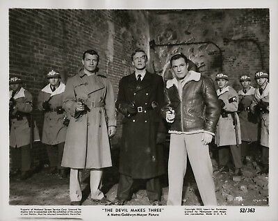 Gene Kelly, Richard Egan, The Devil Makes Three, 1952 ~ ORIGINAl scene still