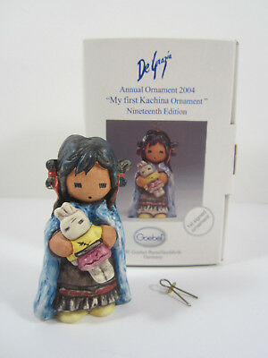 """DeGrazia Goebel """"My first Kachina Ornament"""" 2004 #102786 19th Ed. First Signed"""
