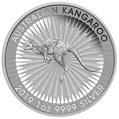 2019-P $1 Silver Australian Kangaroo 1 oz Brilliant Uncirculated