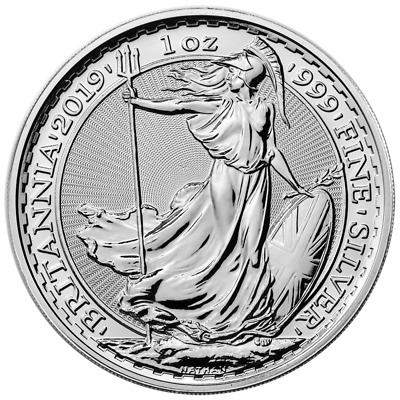 2019 U.K. 2 Pound Silver Britannia .999 1 oz Brilliant Uncirculated