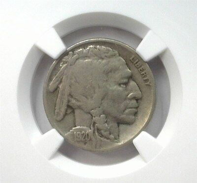 1920-S Buffalo 5 Cents Ngc Vf20 Looks 30! Keydate! Lists For $100!