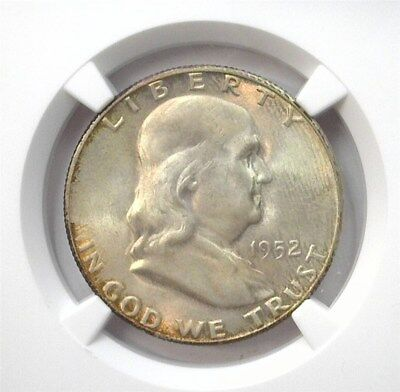 1952-S Franklin Silver 50 Cents Ngc Ms65 Looks 67 Lists For $110! Toned!