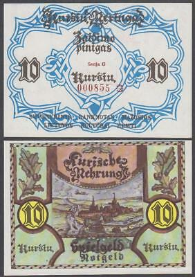 ND Lithuania Notgeld 10 Pinigas (Unc)