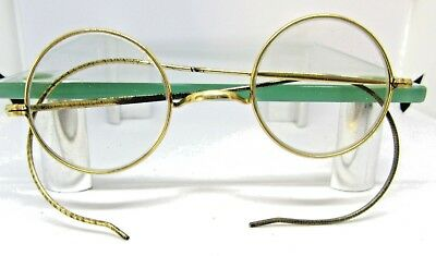 1866-90  Antique Victorian ROLLED GOLD  metal framed  spectacles