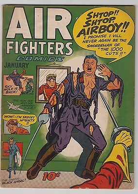 Air Fighters Comics Vl. 2 34 Fn/vf Condition 1942 Golden Age Airboy!