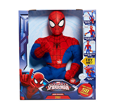 Amazing Spider-Man Plush Wise-Crackin Spider-Man Marvel Comics 20 Inches! NEW