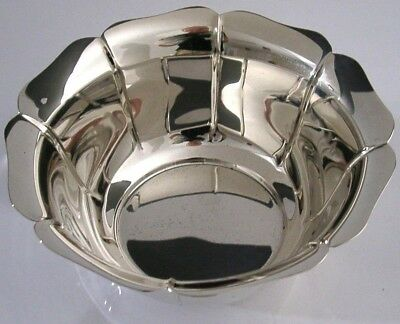 STUNNING STERLING SILVER TIFFANY FLOWER BOWL LONDON 1997 HEAVY 177g