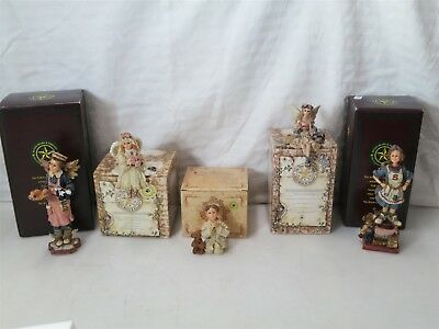 Lot of 5 Boyds Bears and Friends Figures Ms Fries Child's Heart + More