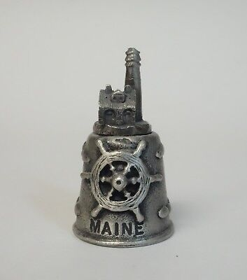 Thimble Maine Lighthouse Seagull Souvenir Pewter Metal Sewing Collectible
